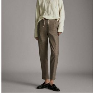 MASSIMO DUTTI Houndstooth pleated pants